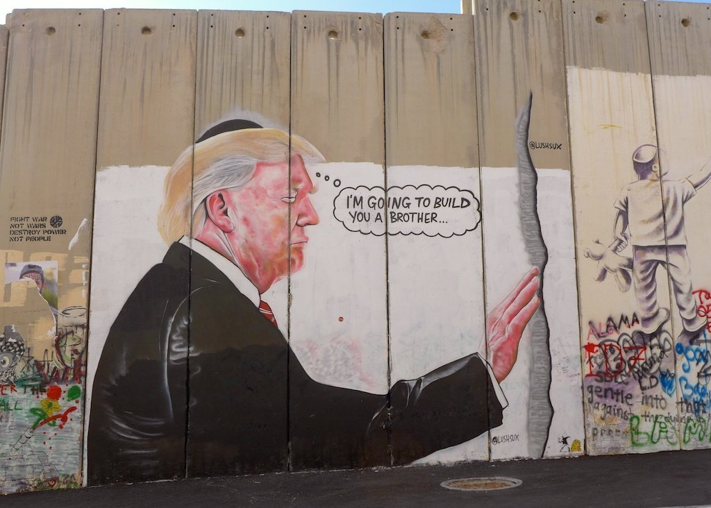 Bethlehem_separation wall_graffiti_Trump