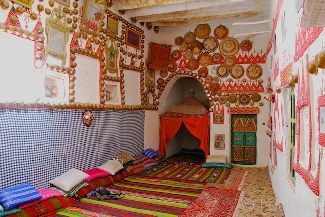 Ghadames: 'tamanhat' living area with special alcove for weddings or funerals