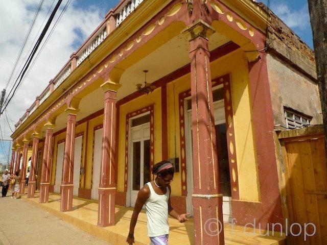 Baracoa colonial style building, Cuba