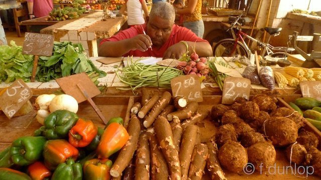 Cuban vegetable stall