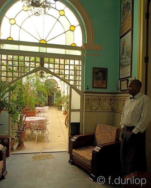 Paladar courtyard Havana