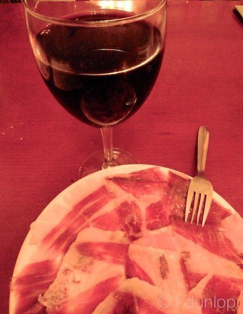 Cordoba jamon + wine