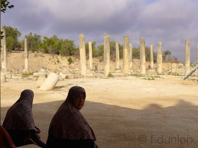 Palestine+Sebastiya+forum+basilica