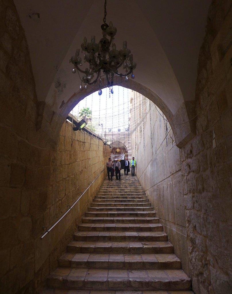 Hebron Al-Ibrahimi mosque stairway