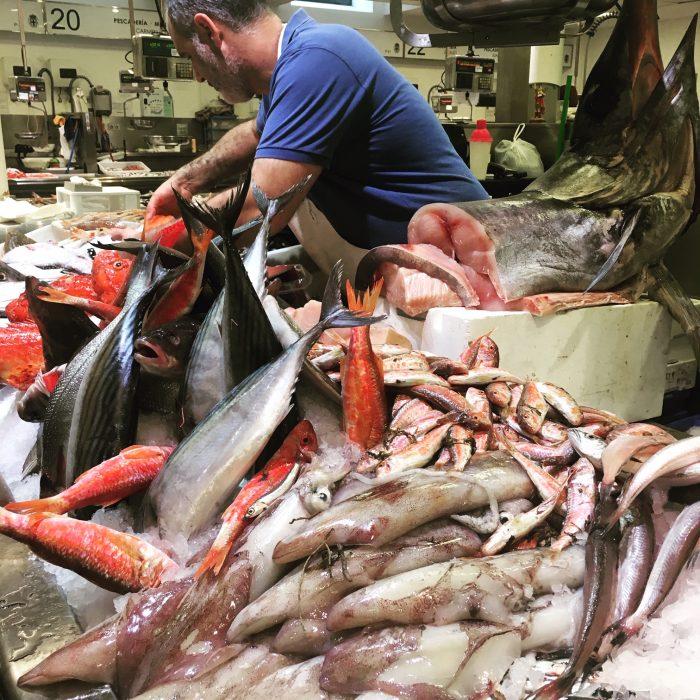 Almeria seafood market