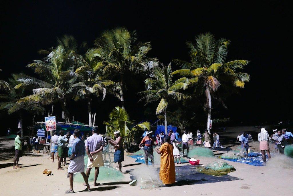 Kerala Marari Beach fishermen