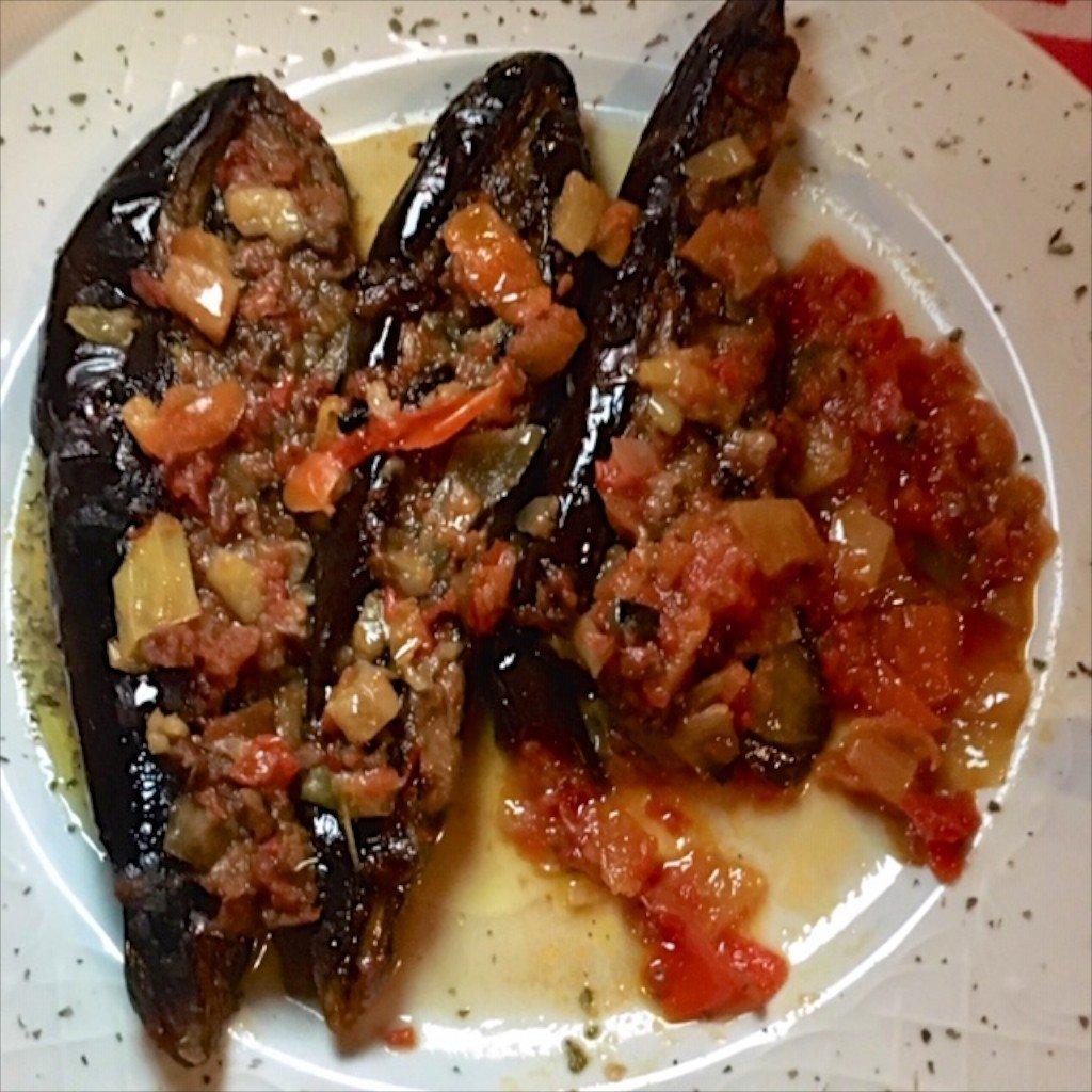 Albania - roasted aubergines