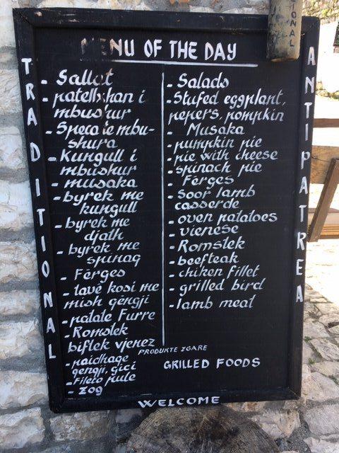 Antipatrea's menu, Berat
