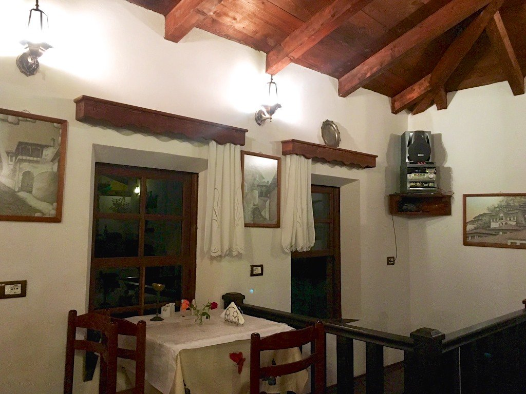 Interior of Antipatrea Restorant in Berat