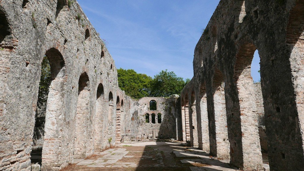 Butrint - Roman basilica arches
