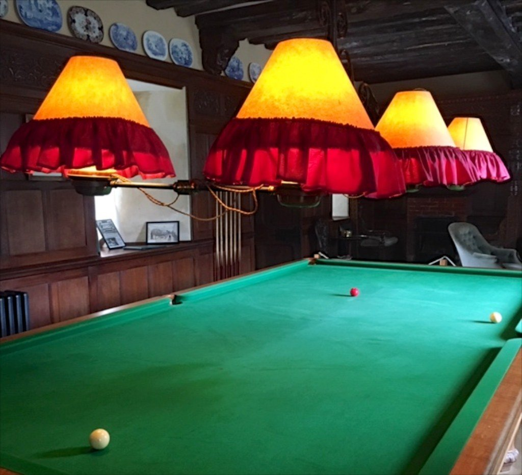 Ightham Mote billiards room