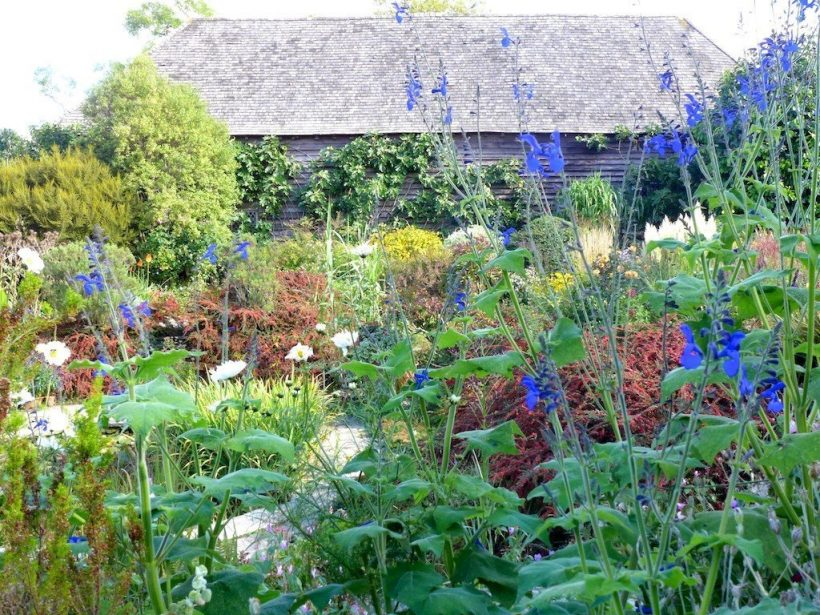 Great Dixter barn with garden, East Sussex