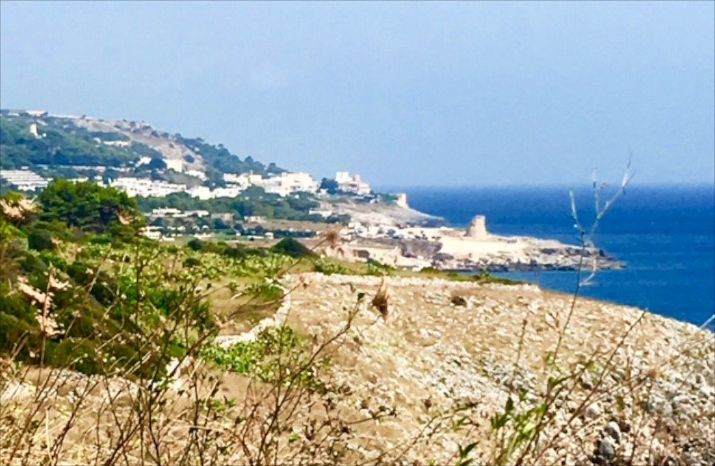 Puglia, Salento, rocky coastline & sea