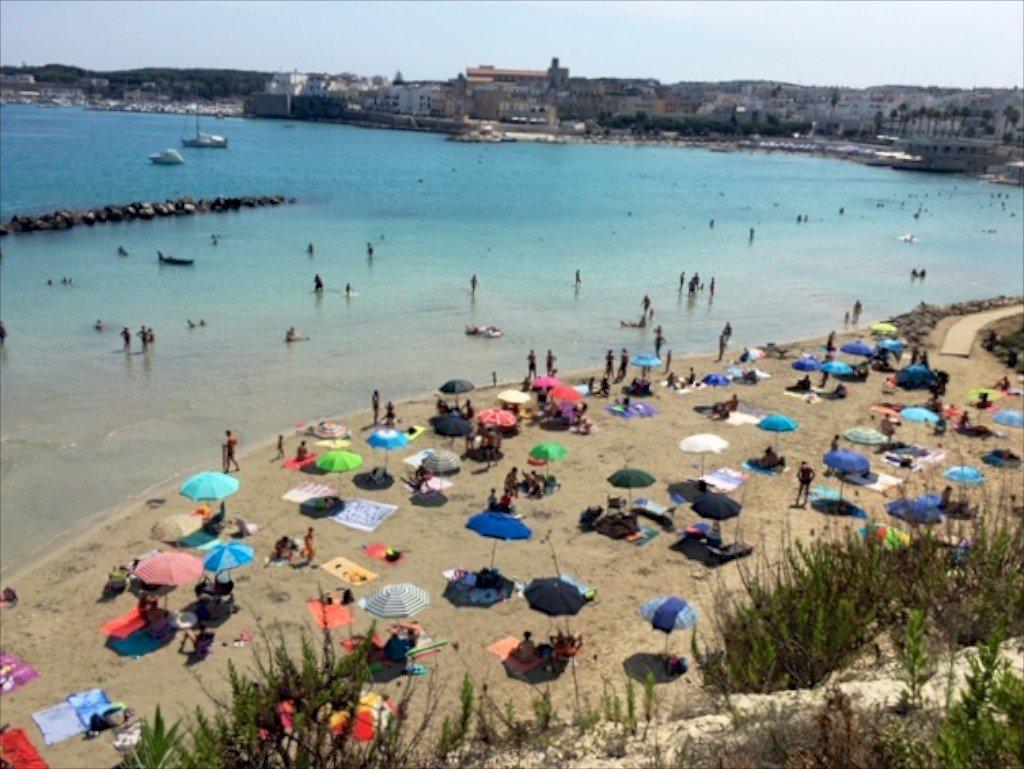 Otranto town beach