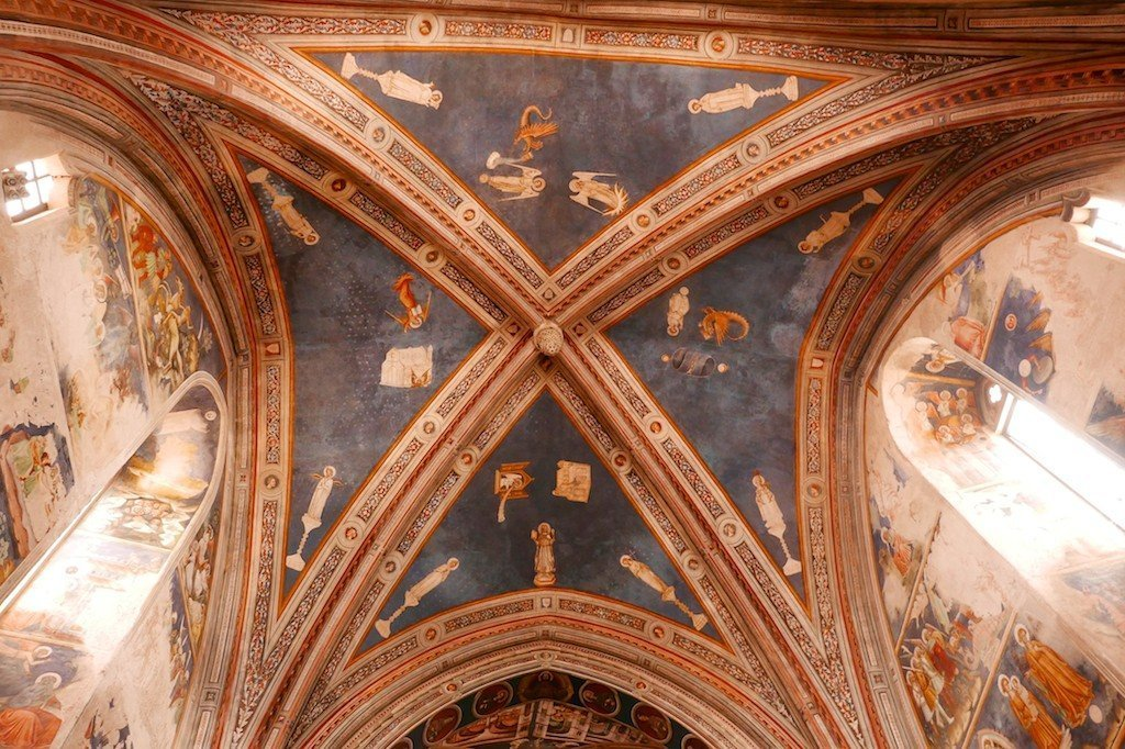 Salento, Galatina, church frescoes
