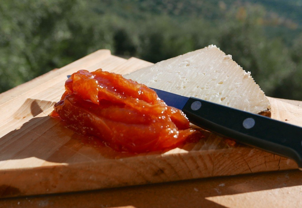 membrillo or quince paste with manchego cheese