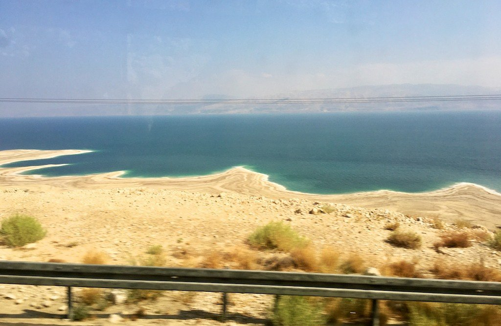 Dead Sea road in Israel