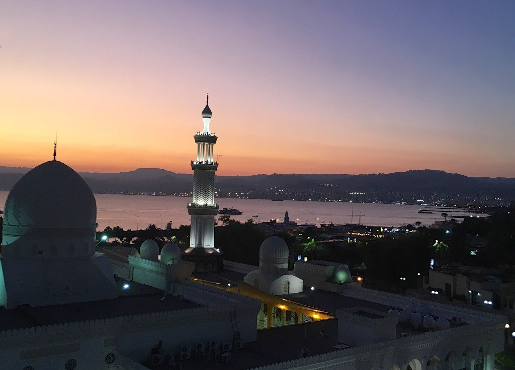 Aqaba, Jorda, sunset view