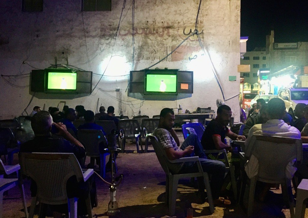 Aqaba, shisha and football