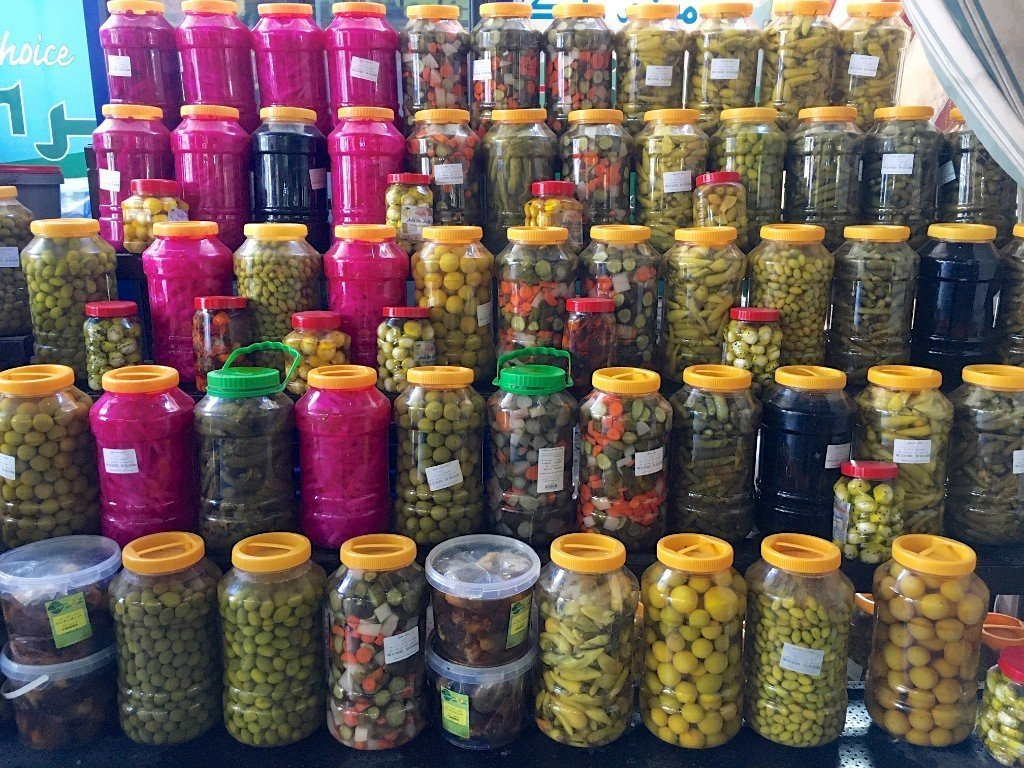Aqaba vegetable market pickles