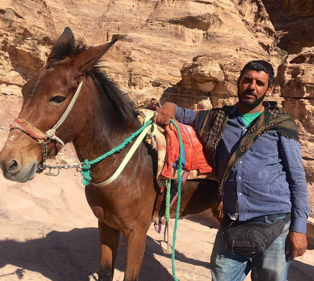 Petra - Mohammed, the muleteer with Asous