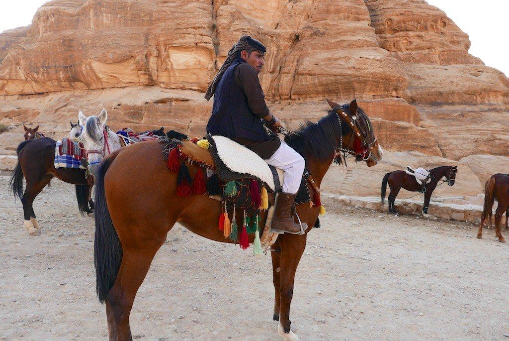 Petra, Jordan, Bedouin horserider