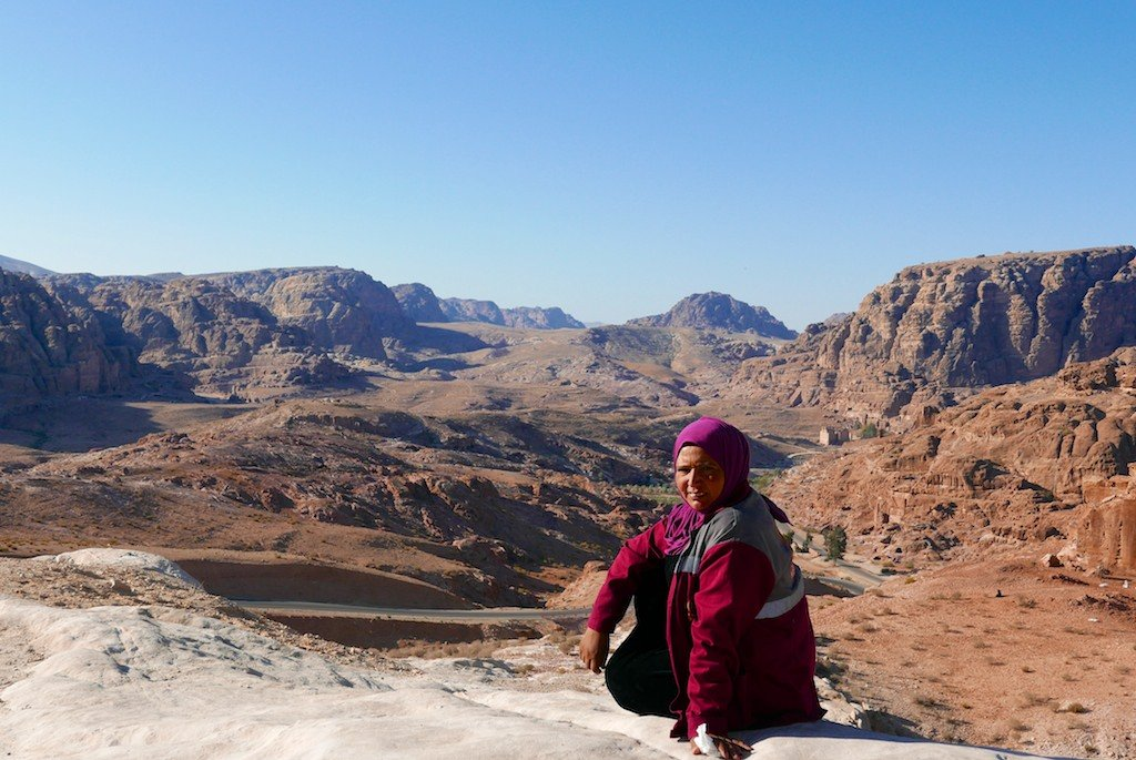 Petra - Bedouin woman at the back entrance