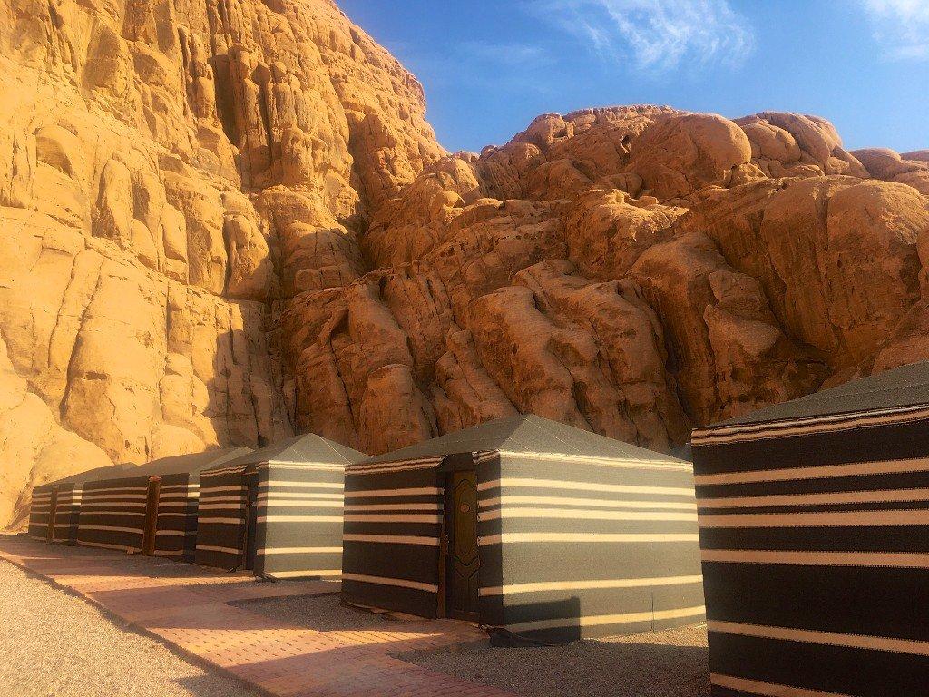 Jordan, Wadi Rum, desert, sandstone, camp