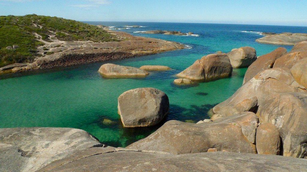 West Australia, coastline rocks