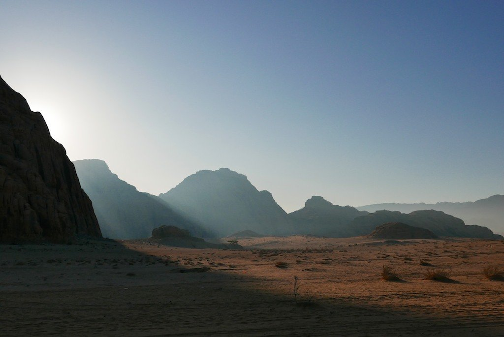 Jordan, Wadi Rum, desert, sandstone, early morning