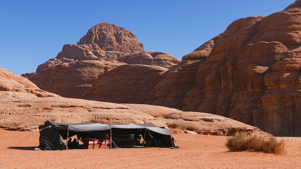 Jordan, Wadi Rum, desert, sandstone, Bedouin tent