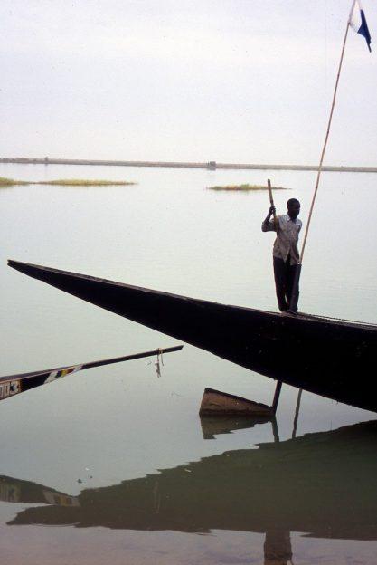 Mali, Niger river, fisherman