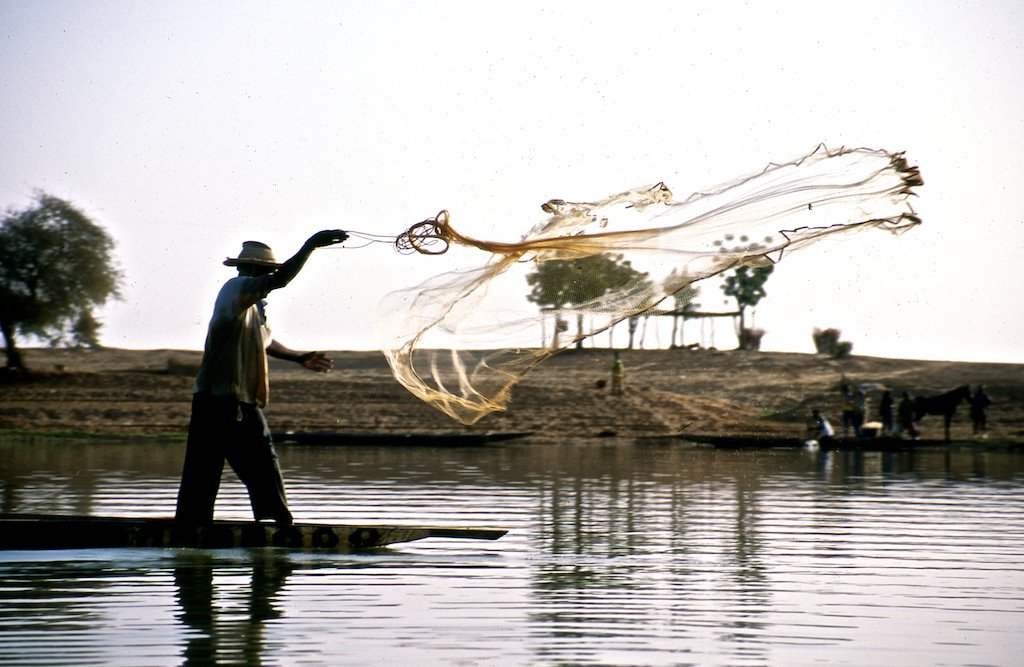 Mali and the Niger River with fisherman