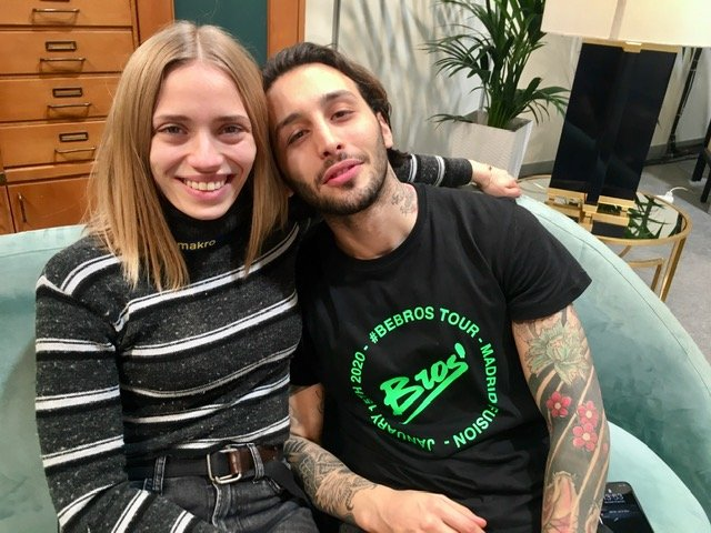 Isabella Poti and Floriano Pellegrino of Bros