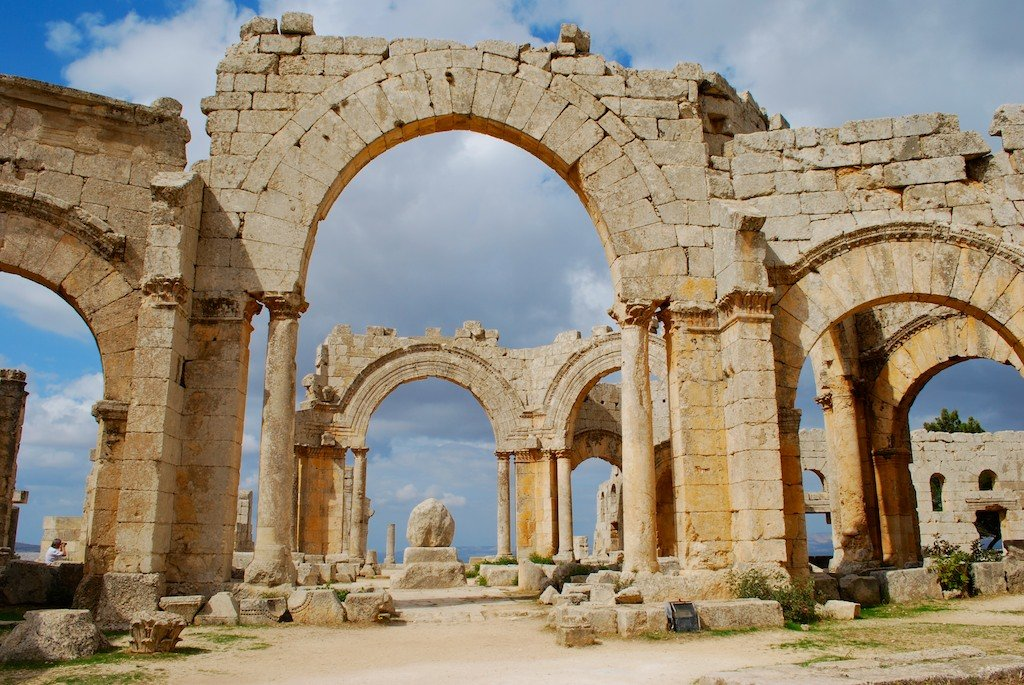 The Byzantine arches and columns of St Simeon Stylites