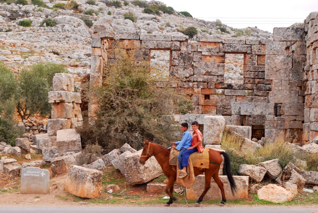 Cities of the Dead, Idlib province, boys on horseback
