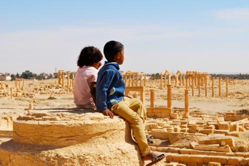Palmyra / Bedouin kids in ruins