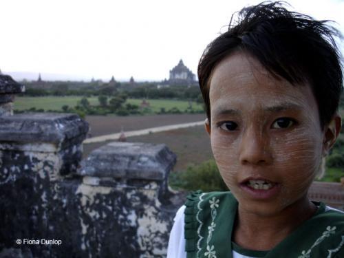 Girl on Bagan temple