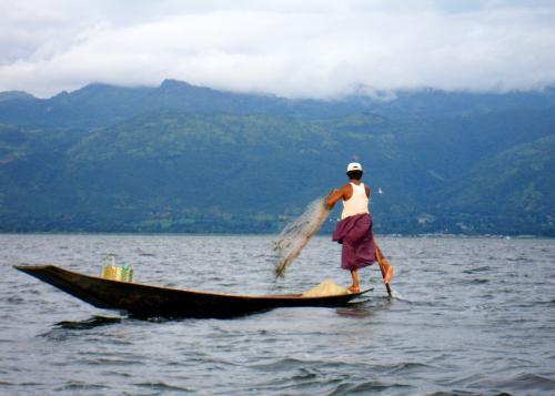 Inle Lake - one-leg rower