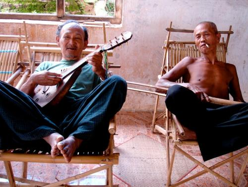 Musicians at Indein, Inle Lake, Burma