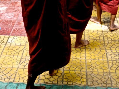 Mandalay monks feet - tiles